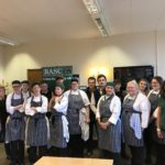 Students from SRUC Elmwood and representatives from BASC and Scotland's Natural Larder in the Themes Training Restaurant at SRUC Elmwood