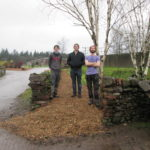 forestry students create path